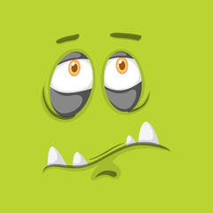 Green monster facial expression
