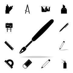 ink pen icon. Art and painting icons universal set for web and mobile