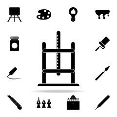 easel icon. Art and painting icons universal set for web and mobile