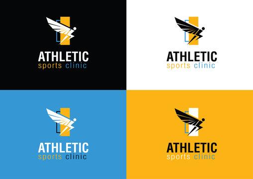 Modern Bold Athletic Sports Clinic Logo