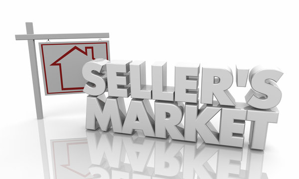 Sellers Market Home House For Sale Sign 3d Illustration