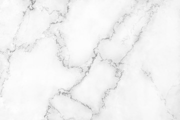 Nature white or gray marble texture with black veins and  curly seamless patterns , interiors tile luxury for background