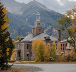 Silverton Colorado Courthouse in the Fall