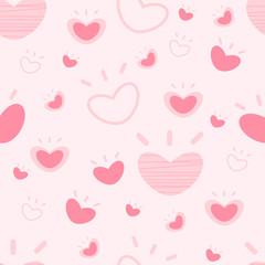 Heart pattern seamless background