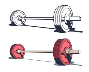 Weightlifting powerlifting or bodybuilding barbell