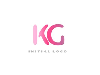 KG Initial Logo for your startup venture