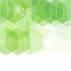 Abstract background with green hexagonal shapes. eps 10
