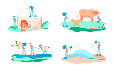 Wild animal rescue concept.