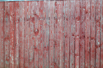 Red color old wooden wall.