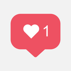 Instagram Counter, follower notification symbol . Buton for social media