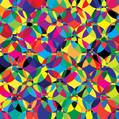 Vector abstract background. Kaleidoscope geometric colorful back