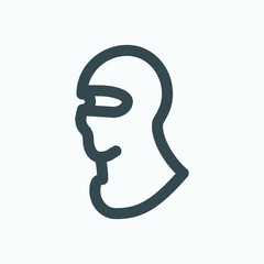 Balaclava icon, sport motorcycle mask  balaclava vector icon - fototapety na wymiar