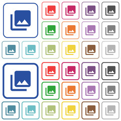 Photo library outlined flat color icons