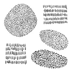 Vector hand drawn shapes for your card, flyer, brochure, banner, poster design. Dots
