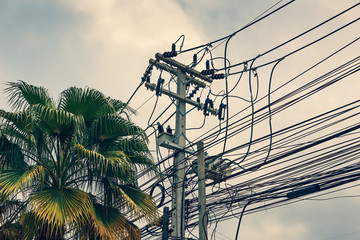 thailand electricity wire mess (cross process)