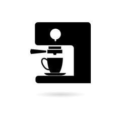 Black Coffee maker icon or logo