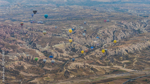 Wall mural Balloon ride in Capadocia, Turkey