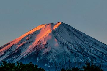 Mt.Fuji with sunrise morning sky background
