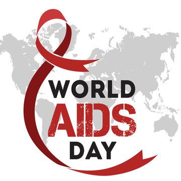 World AIDS Day Banner Ribbon