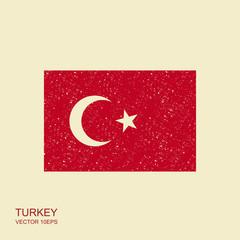 Vector Turkey flag, Turkey flag illustration. Vector icon