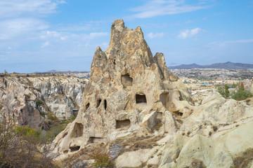 Wall Mural - Rock mountain in open air museum in Cappadocia, Turkey