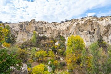 Wall Mural - Rock mountain in open air museum in Cappadocia, TurkeyRock mountain in open air museum in Cappadocia, Turkey.