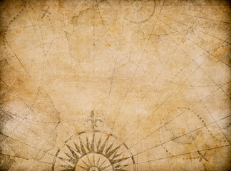 Wall Mural - medieval old nautical map background