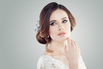 Fashion portrait of charming young woman