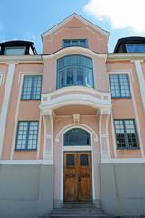 Jugendstilfassade in Karlshamn Schweden