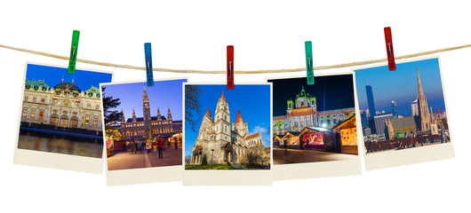 Vienna Austria travel images (my photos) on clothespins