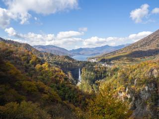 Kegon Waterfall and Lake Chuzenjiko. scenery, Nikko, Japan