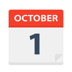 October 1 - Calendar Icon