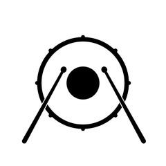 Drum icon, logo on white background