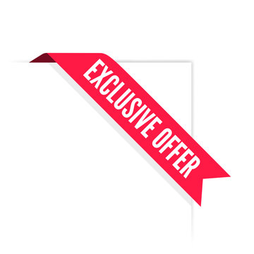 Exclusive Offer Ribbon Label