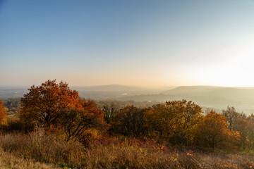 Paysage d'automne sur la ville de Metz en fin de journée