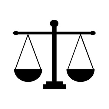 Justice scales symbol icon