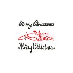 Congratulations Happy New Year and Merry Christmas, calligraphy for cards, posters and covers