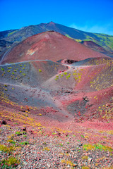 The colors of the Etna volcano