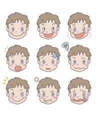 幼い少年の表情集