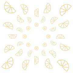 Orange Muster