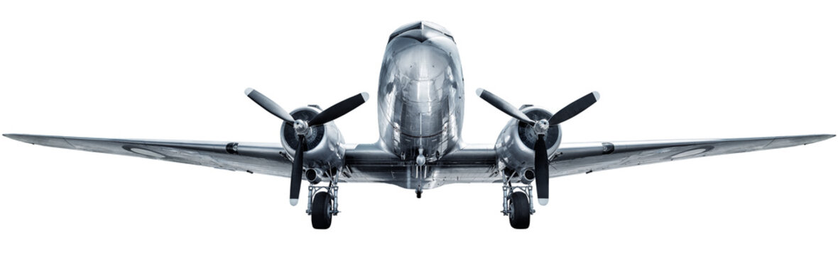historical aircraft isolated on a white background