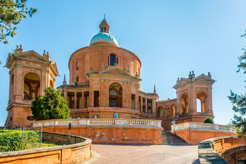 View at the Basilica of Madonna di San Luca in Bologna - Italy