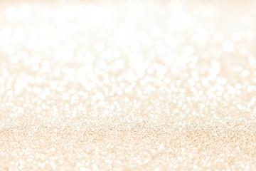Gold glitter vintage lights background.