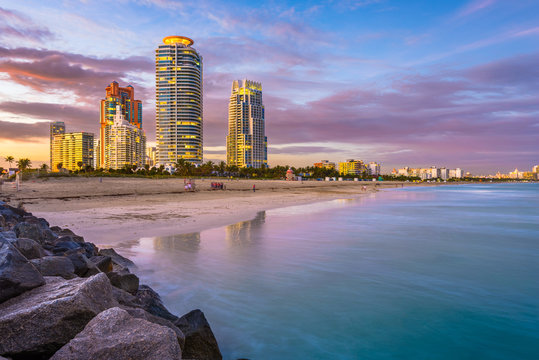Miami Beach, Florida, USA Skyline