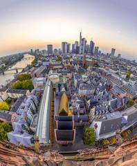 Frankfurt Sykline Fisheye-view execandy