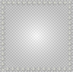 Cute square snowflakes border for chrismas or new year holidays