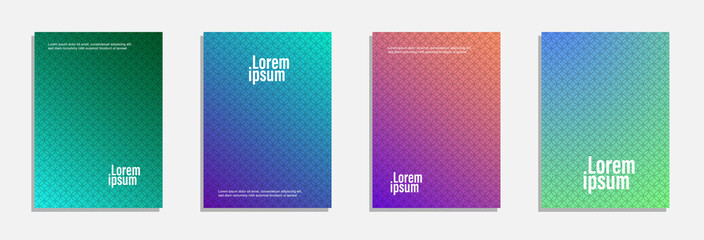 Minimal cover design. Set of geometric pattern background