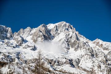 Slavina sul Monte Bianco
