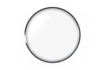 Transparent glass Petri dishes on white background. Top view. 3D rendering Fototapete
