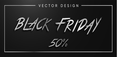 Black Friday silver sale vector illustration
